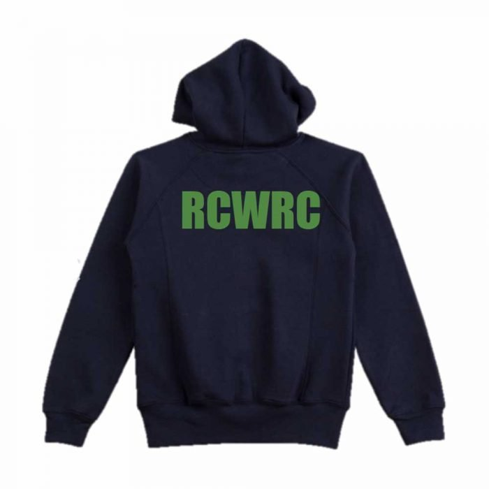river city women's rowing club back view of hoodie