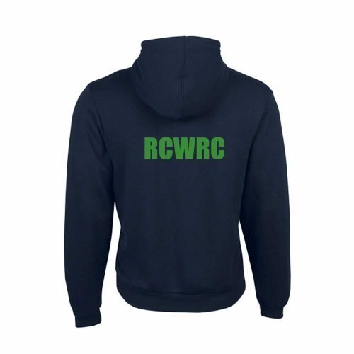 river city women's rowing club back view of zippered hoodie